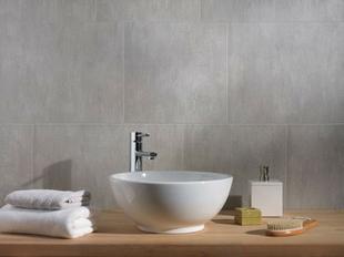 Lambris PVC El�ment grand format ''XL'' �p.8mm larg.375mm long.2,60m stone grey - GEDIMAT - Mat�riaux de construction - Bricolage - D�coration