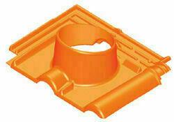 Tuile à douille RENAISSANCE diam.100/150mm coloris amarante - Gedimat.fr
