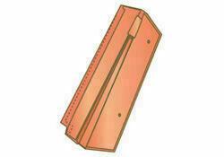 Rive à rabat droite pour tuiles JURA PV et COTE DE NUIT PV coloris rouge flammé - Gedimat.fr