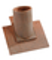 Tuile à douille diam.130mm PLATE TRADITION 17x27 ou monument historique coloris terre d'Allier - Gedimat.fr