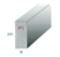 Bordure béton P1 ép.8cm haut.20cm long.1 m classe U+B coloris gris - Gedimat.fr