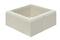 Elément de pilier LISSE 38x38cm haut.16,7cm coloris blanc cassé - Gedimat.fr
