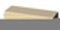 Lisse balustrade OCEANE plate ép.7,5cm larg.20cm long.49,5cm coloris ton pierre - Gedimat.fr