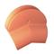 Fronton de rive ronde GR13 coloris rouge - Gedimat.fr
