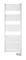 Sèche serviettes à fluide caloporteur BASIC 500W haut.92,7 cm long.48cm prof.8,5 cm blanc - Gedimat.fr