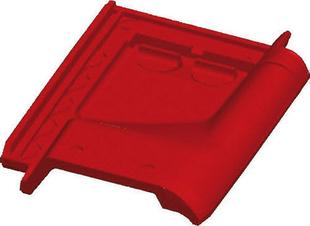 Tuile de ventilation ARTOISE + grille coloris rouge - Gedimat.fr