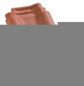 Tuile double à bourrelet PANNE H2 HUGUENOT coloris rouge - Gedimat.fr