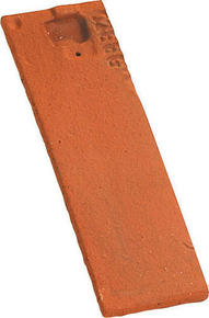 Demi-tuile PLATE PRESSEE 17x27 coloris rouge nuance - Gedimat.fr