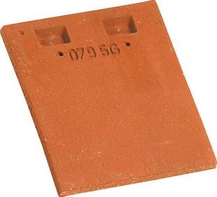 Tuile courte d'égout et de faîtage pour rectangulaire PLATE 17x27 coloris rouge nuance - Gedimat.fr