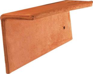 Rive individuelle gauche pour tuile Plate 16x24 Phalempin coloris ambre - Gedimat.fr