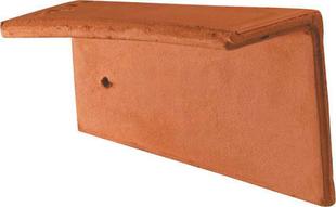 Rive individuelle droite pour tuile Plate 16x24 Phalempin coloris ambre - Gedimat.fr
