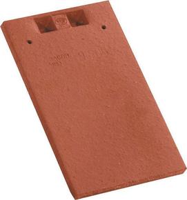 Tuile courte rectangulaire pour tuiles plates 16x38 coloris rouge - Gedimat.fr