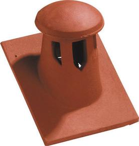 Tuile à douille 16x38 diam.125mm avec lanterne incorporée coloris rouge - Gedimat.fr