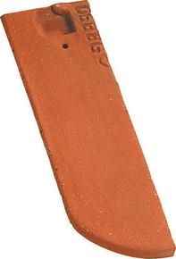 Demi-tuile plate PLATE ECAILLE PRESSEE 17x27 droite coloris terre de Beauce - Gedimat.fr