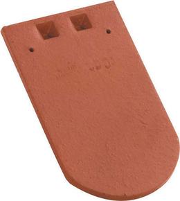 Tuile courte Ecaille de faîtage ALSACE LISSE 16x38 coloris rouge ancien - Gedimat.fr