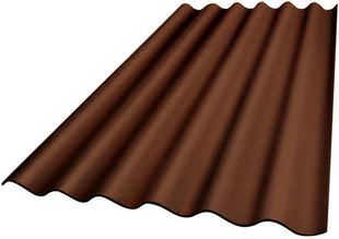 Plaque ondulée 5 ondes en fibres-ciment PLAKFORT 5 COLORPLUS long.2,00m larg.0,918m coloris brun - Gedimat.fr