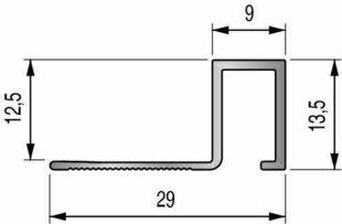 Profilé d'arrêt de carrelage droit en aluminium Haut.12,5mm Long.2,50m finition Titane brossé - Gedimat.fr
