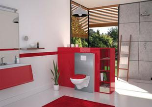 Habillage pour bâti WC à peindre Magispace Alumunium composite alu brossé - Gedimat.fr