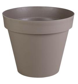Pot TOSCANE rond diam.80cm haut.66cm 192L taupe - Gedimat.fr