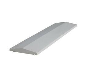 Couvertine béton 2 pentes ép.6cm larg.30cm long.1m ton blanc - Gedimat.fr