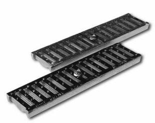 Passerelle fonte + barre d'attache DRAINYL PRO 100 ép.2cm larg.13cm long.50cm pour caniveau DRAINYL PRO 100 - Gedimat.fr