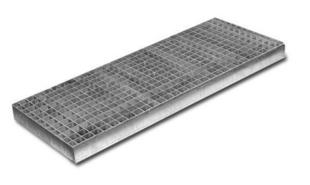 Grille caillebotis acier SM 300 ép.6cm larg.40cm long.1m pour caniveau SM 300 - Gedimat.fr