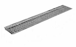 Grille caillebotis acier DRAINECO 100 ép.2,5cm larg.14,5cm long.1m pour caniveau DRAINECO 100 - Gedimat.fr