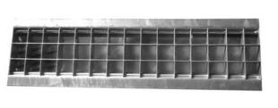 Grille caillebotis acier DRAINECO 100 ép.2,5cm larg.14,5cm long.50cm pour caniveau DRAINECO 100 - Gedimat.fr