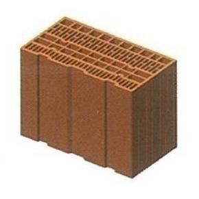 Brique en terre cuite CALIBRIC tableau monomur ép.37,5cm larg.16,4cm long.50cm - Gedimat.fr