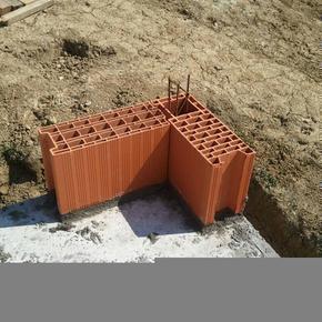Brique en terre cuite CALIBRIC d'angle ép.20cm haut.31,4cm long.50cm - Gedimat.fr