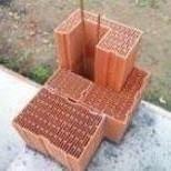 Brique en terre cuite CALIBRIC d'angle monomur ép.30cm larg.21,2cm long.50cm - Gedimat.fr