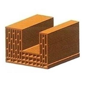 Brique en terre cuite CALIBRIC de chaînage horizontal monomur ép.37,5cm larg.24,9cm long.50cm - Gedimat.fr
