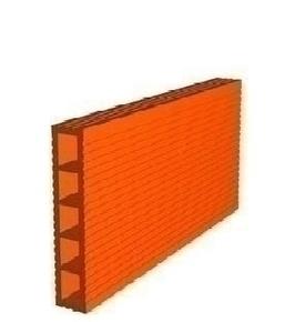 Cloison plâtrière en terre cuite long.40cm haut.25cm ép.3,5cm - Gedimat.fr