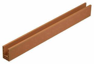 Maxi-linteau en terre cuite pour mur de 20cm ép.27cm long.1,40m hors tout - Gedimat.fr