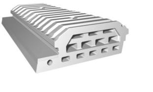 Entrevous moulé en polystyrène ISOLEADER DECOR 33 M1 entraxe de 60cm long.120cm - Gedimat.fr