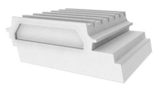 Entrevous moulé en polystyrène ISOLEADER SPX 27 IGNI - Gedimat.fr