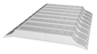 Entrevous en matériaux de synthèse LEADER EMS M1 entraxe de 60cm long.120cm haut.13cm - Gedimat.fr
