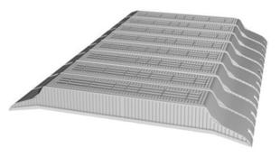 Entrevous en matériaux de synthèse LEADER EMS M2 entraxe de 60cm long.120cm haut.13cm - Gedimat.fr