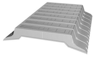 Entrevous en matériaux de synthèse LEADER EMS M2 entraxe de 60cm long.120cm haut.16cm - Gedimat.fr