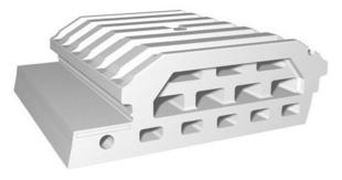 Entrevous moulé en polystyrène ISOLEADER 33 M1 entraxe de 60cm long.1,20cm - Gedimat.fr