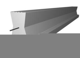 Poutrelle en béton LEADER 158 haut.15cm larg.14cm long.7,70m - Gedimat.fr