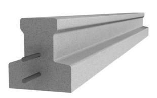 Poutrelle en béton X92 haut.9,2cm larg.8,5cm long.2,50m - Gedimat.fr