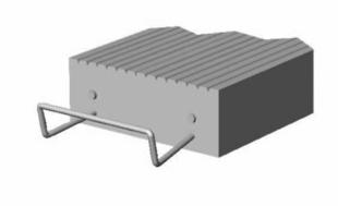 Prélinteau en béton SR5 ép.5cm larg.15cm long.1,00m - Gedimat.fr