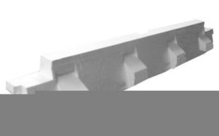 Rupteur en polystyrène moulé ISORUTPEUR HB60 RL16 entraxe de 60cm long.1,20m haut.16cm - Gedimat.fr