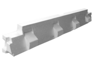 Rupteur en polystyrène moulé ISORUTPEUR HB60 RL20 entraxe de 60cm long.1,20m haut.20cm - Gedimat.fr