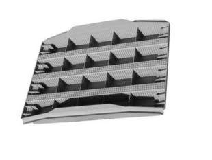 Tympan en matériaux de synthèse LEADER BIAIS M1 larg.60cm haut.40cm ép.5,5cm - Gedimat.fr
