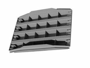 Tympan en matériaux de synthèse LEADER BIAIS M2 larg.60cm haut.40cm ép.5,5cm - Gedimat.fr