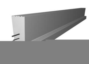 Poutrelle en béton PERFORMANCE 136SE haut.13cm larg.10cm long.4,60m - Gedimat.fr