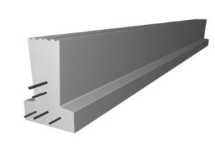 Poutrelle en béton PERFORMANCE 136SE haut.13cm larg.10cm long.4,80m - Gedimat.fr