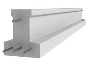 Poutrelle en béton X114 haut.11,4cm larg.9,5cm long.4,50m - Gedimat.fr